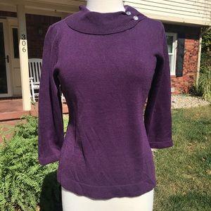 Laura Scott Long Sleeve Plum Sweater (pm)
